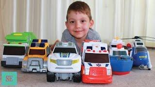 Машины спасатели Видео для детей Rescue cars toys Video for kids