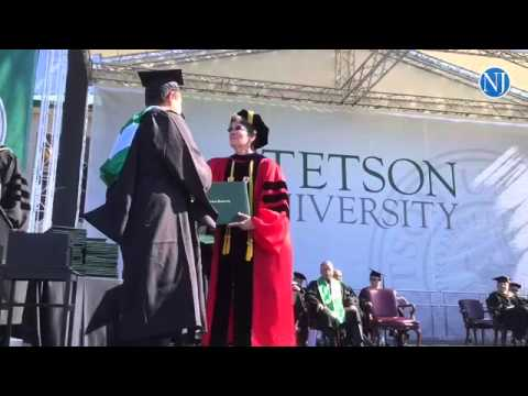 Stetson University held it commencement exercises at Spec Martin Memorial Stadium in Deland Saturday