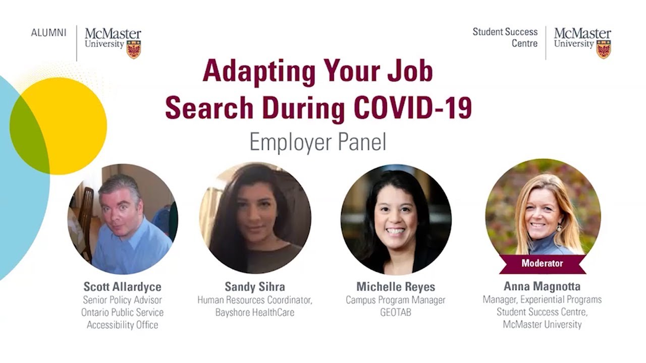 Image for Adapting Your Job Search During COVID-19 webinar