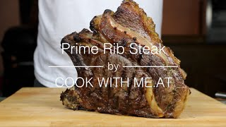 Prime Rib Steak - Grilled On The Big Green Egg - Cook With Me.at