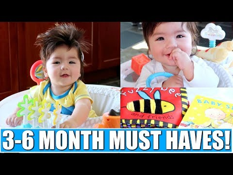 3-6 MONTH BABY MUST HAVES!