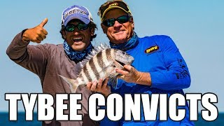 Tybee Island Fishing Offshore Georgia for Sheepshead Catch and Cook