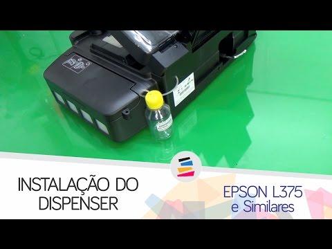 Tutorial - Instalação do Dispenser na Epson L375 L475 e Similares - SULINK