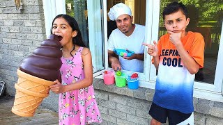 Heidi و Zidane مع قصة آيس كريم عملاقة ولذيذة  ice cream story