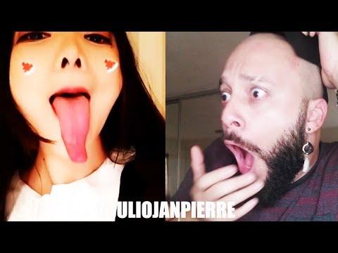 Impressive Asian Tongue Reaction - By Julio Janpierre