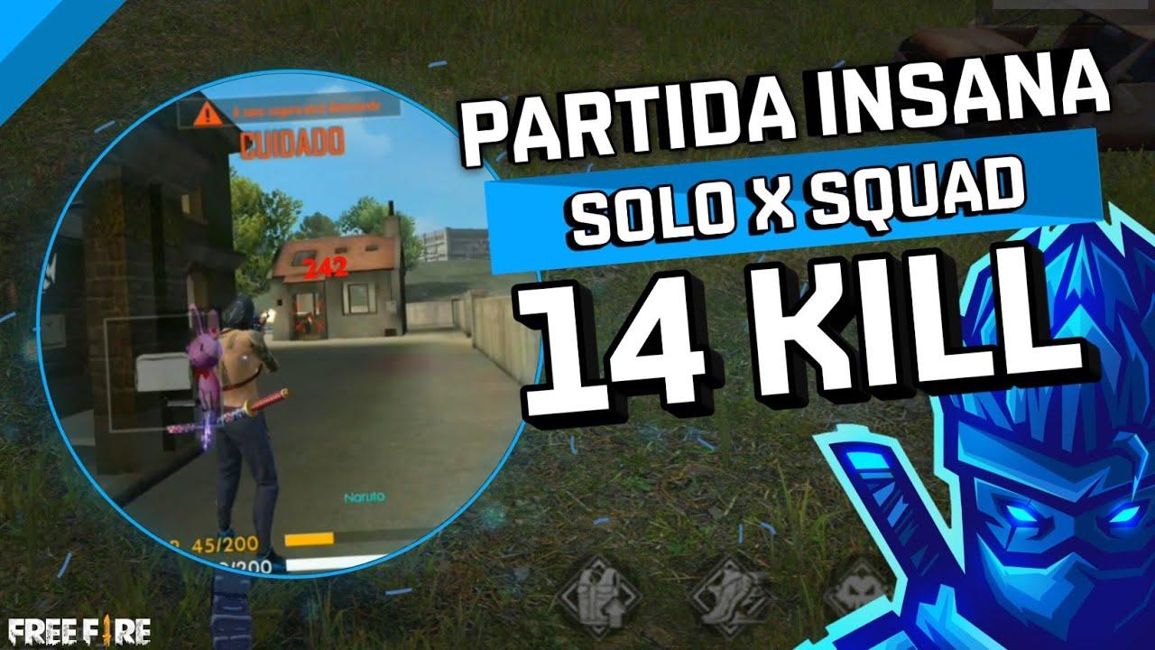 INACREDITÁVEL! FIZ 14 KILLS NA RANQUEADA SOLO X SQUAD !!!! FREE FIRE