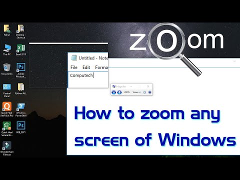 How to magnify or zoom any screen of Windows PC | #Tips and Tricks video | Computech Knowledge