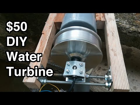 The $50 Water Turbine -DIY, Portable, Powerful, and Open Source