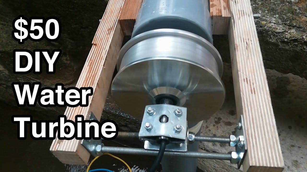 DIY 50 dollar pico hydro turbine