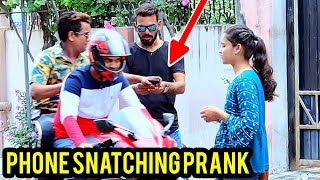 Phone Snatching Prank by Zuber khan | Bhasad News | Pranks in India