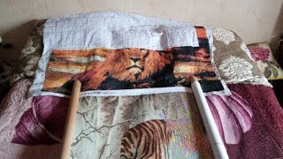 #Dome #вышивание крестом Dome 70702 Бенгальские тигры  процесс вышивания
