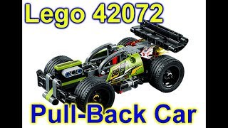 Lego Green Pull Back Car 42072 WHACK Unbox and Build Stop Motion