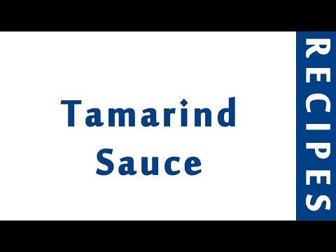 Tamarind Sauce | INDIAN RECIPES | MOST FAMOUS RECIPES | HOW TO MAKE