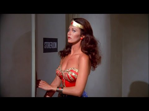 Wonder Woman (Lynda Carter) beats up the bad guys & shows her bust in HD thumbnail