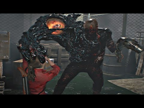 Resident Evil 2 Remake 2019 - Boss Fight 3# G-Monster (Claire Story