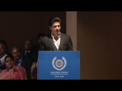 Shah Rukh Khan's Speech at DAIS GC2016, with Nita Ambani