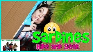 SARDINES Hide and Seek In HUGE Box Fort Ball Pit / That YouTub3 Family Family Channel