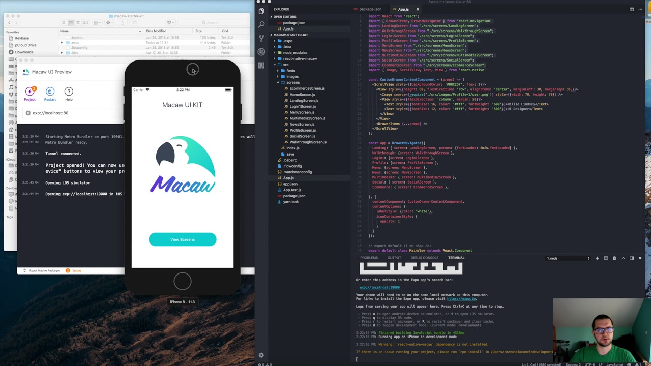 Macaw UI Kit - React-native theme for your social media & e-commerce