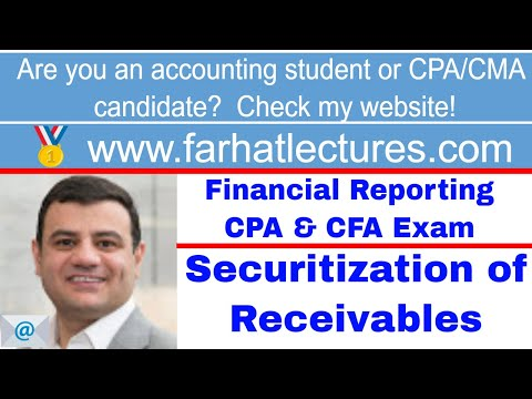 Rules for Pledging or selling receivable (securitization) CPA exam ch 8 p 7