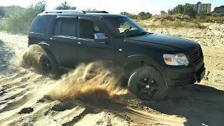 Ford Explorer IV - мини тестдрайв в песке!