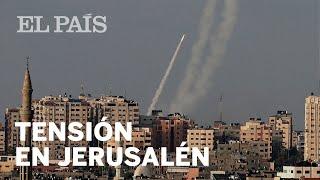 ISRAEL BOMBARDEA GAZA tras el lanzamiento de SIETE PROYECTILES de HAMÁS