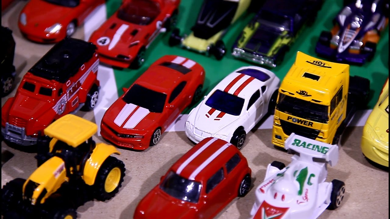 review 50 small toy cars for children police cars sports cars a lot of other cars