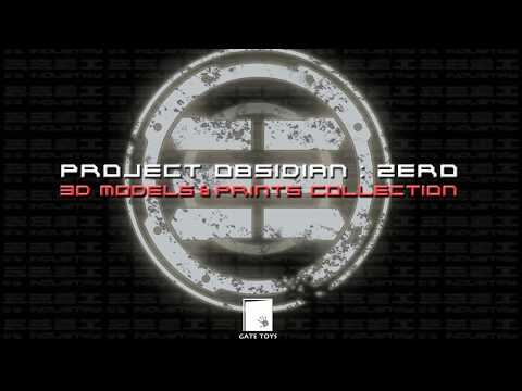GATE TOYS X 33 Industry Project Obsidian 1:6 Collectible Action Figure 3D Prints Collection 01