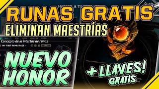 Nuevas RUNAS GRATIS, eliminan MAESTRÍAS, nuevo HONOR y MUCHO MÁS | Noticias League Of Legends LoL