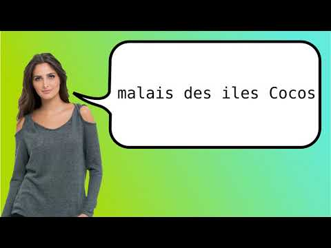 How to say 'Cocos Islands Malay' in French?