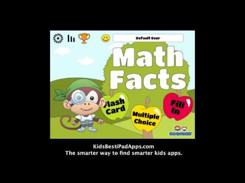 iPad Apps For Kids: Sogabee's Math Facts Fun