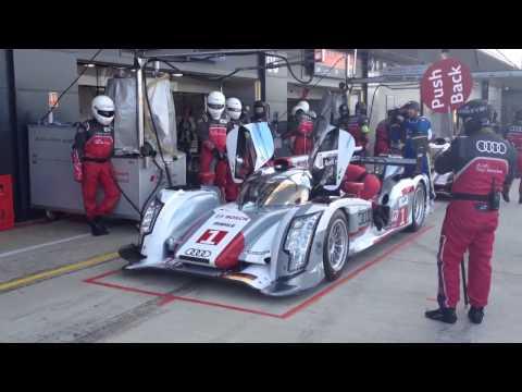 Audi lmp pit stop