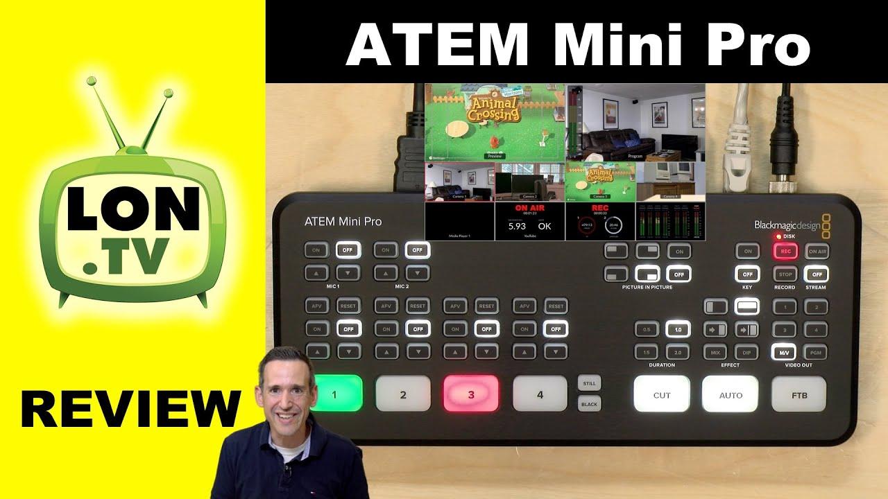 Blackmagic Design Atem Mini Pro Video Switcher Review Vs The Regular Atem Mini Youtube