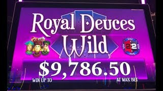 NEW! Free Spins Bonus Win! Max Bets on Royal Deuces Wild @ Rosie's!