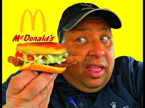 McDonald's庐 Garlic White Cheddar with Buttermilk Crispy Chicken Review!