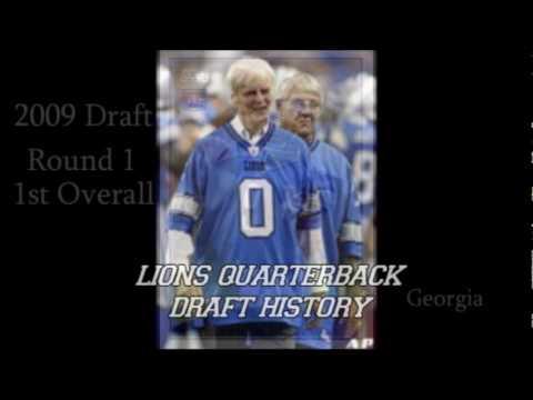 Lions QB Draft History