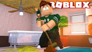 CLEANING PIS & CACA IN ROBLOX Cleaning Simulator in Spanish