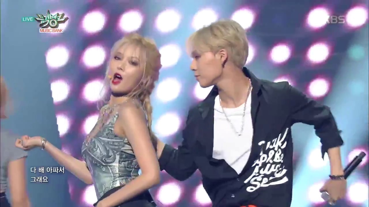 """compilation of pentagon's e'dawn performing """"roll deep ..."""