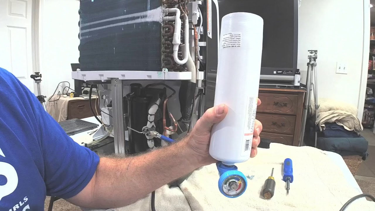 Recharging a dehumidifier with Freon Part 3