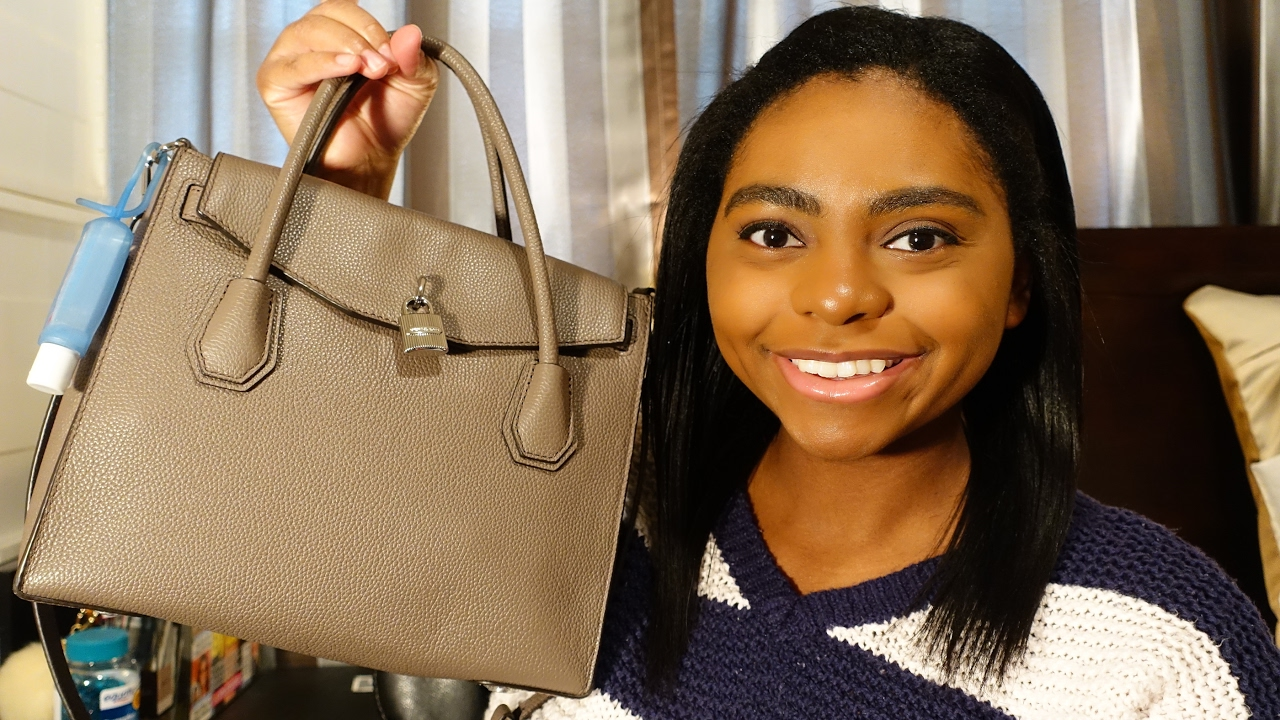 520c6d996536 Review  Michael Kors Mercer Large All In One Satchel - YouTube