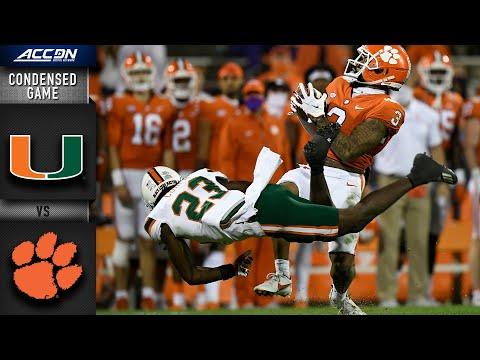 Miami vs. Clemson Condensed Game   2020 ACC Football