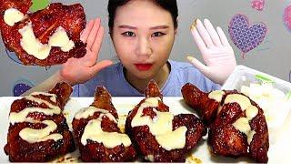 BBQ 자메이카통다리구이 치킨 CHICKEN 먹방 Mu…