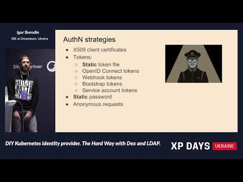 DIY Kubernetes identity provider. The Hard Way with Dex and LDAP. (Igor Borodin, Ukraine) [RU]