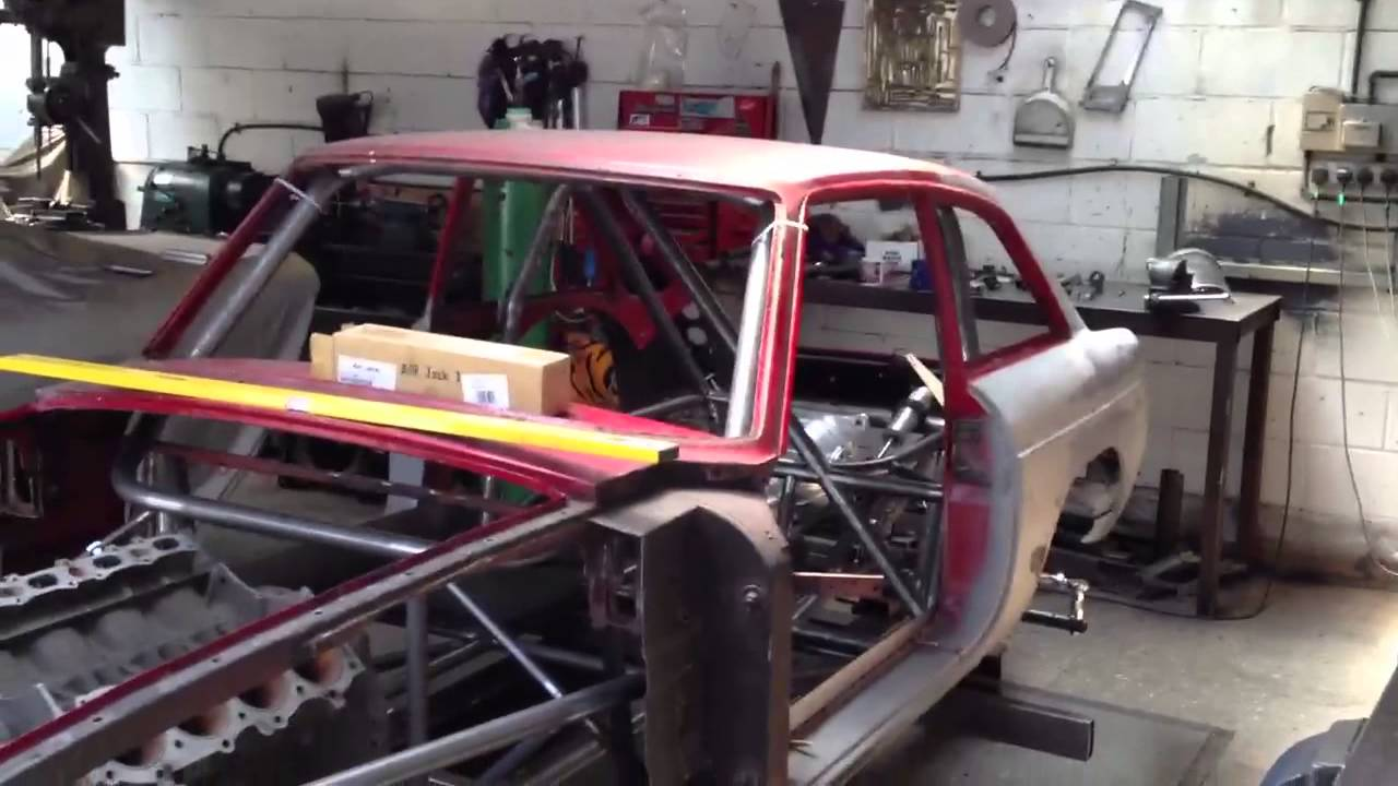 aps motorsports mgb gt race car twin turbo space frame chassis part 1 youtube