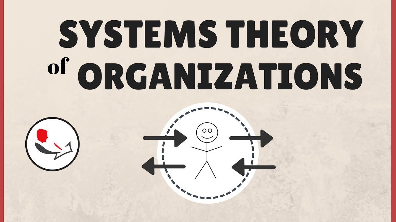 Systems Theory Of Organizations Youtube