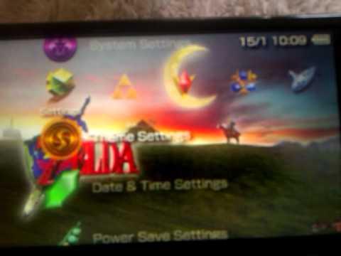 psp Ocarina of time Custom theme!