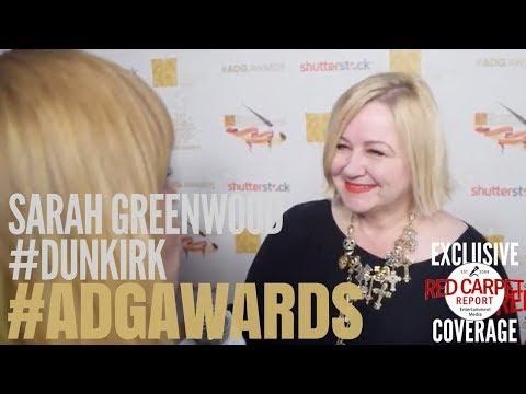 Sarah Greenwood, Production Designer #Dunkirk interviewed at the 22nd Annual ADG Awards #ADGAwards