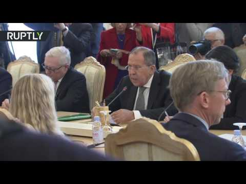 'Who was giving you your manners?' Lavrov schools NBC reporter for Tillerson event interruption