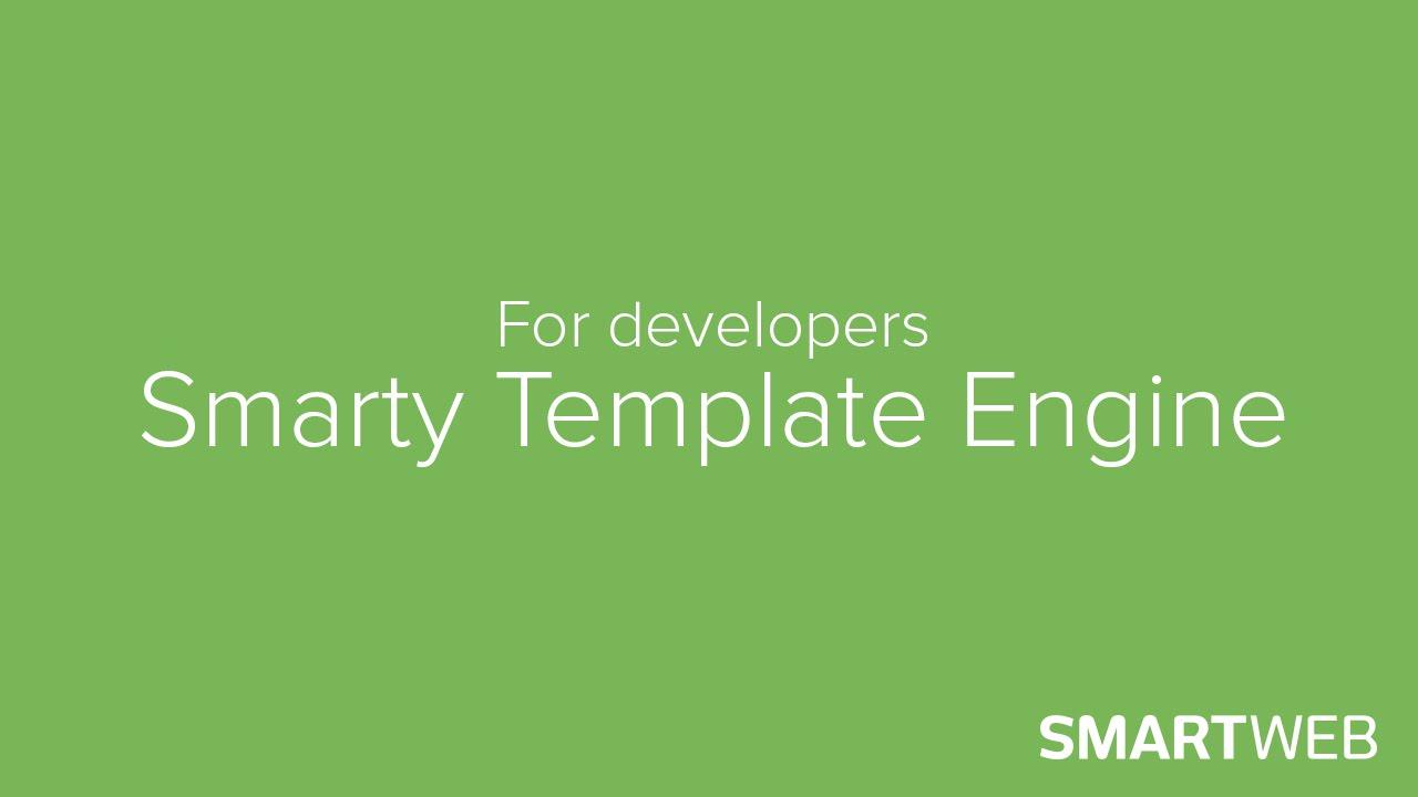 SmartWeb - For Developers - Smarty Developer Guide - YouTube
