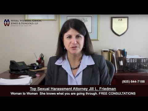 Sexual Harassment at work #MeToo Woman to Woman Attorney Jill Friedman