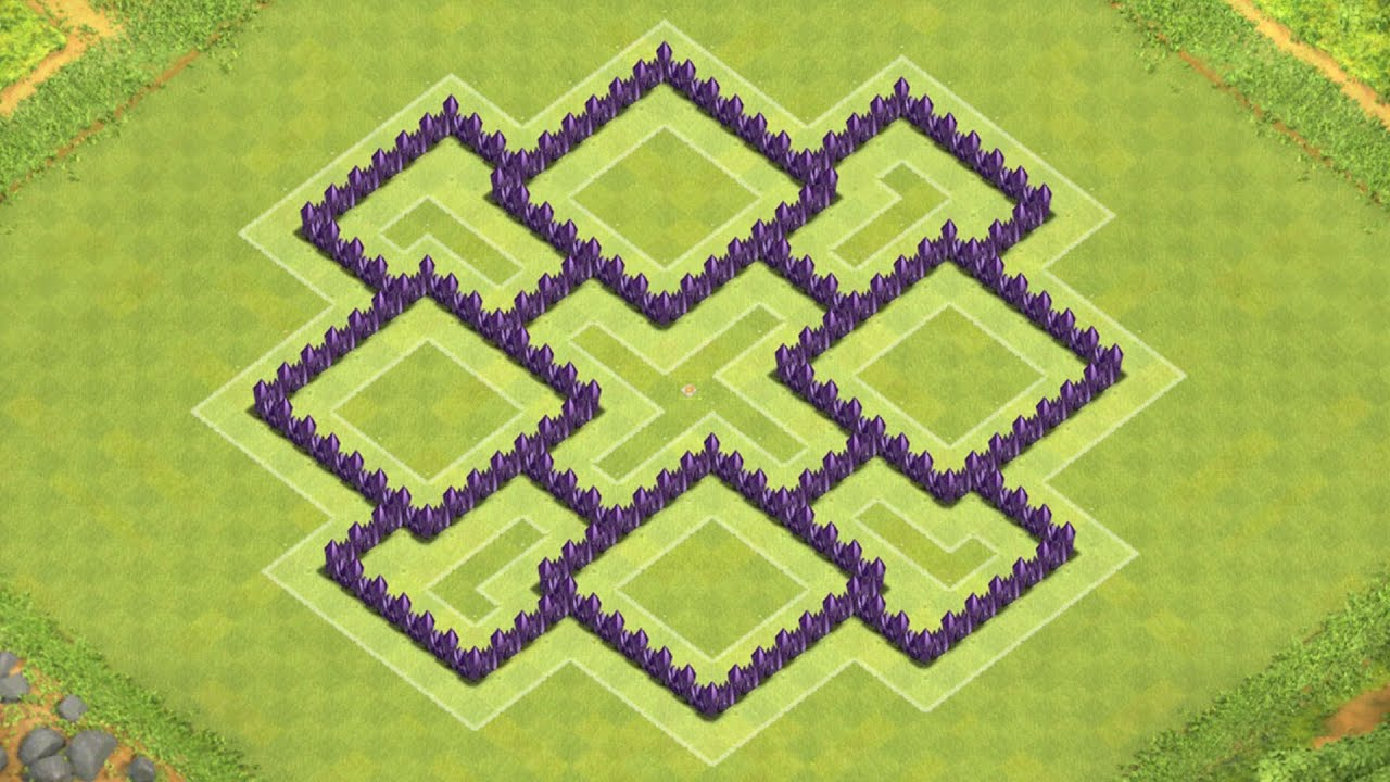 Defense coc th7 best hybrid base layout defense strategy youtube